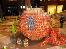 Canstruction 2013 @ Wereld Financieel Centrum 4 Stock Foto's
