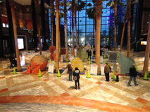 Canstruction 2013 @ Wereld Financieel Centrum 9 Royalty-vrije Stock Afbeelding