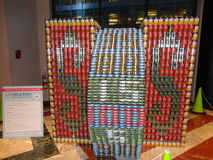 Canstruction 2013 @ The World Financial Center 8 Stock Photo