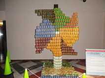 Canstruction 2013 @ The World Financial Center 10 Stock Photography
