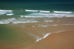 Cantábria, Sandy Beach fotos de stock