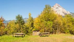 Cantón Schwyz, Mythen Fotos de archivo libres de regalías