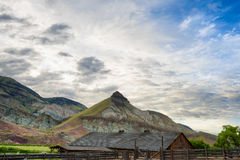 Cant Ranch in John Day Fossil Beds National Park. Kimberly, Oregon, USA - June 1, 2017: James Cant Ranch is an historical part of the National Park Service and stock images