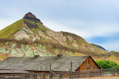 Cant Ranch in John Day Fossil Beds National Park. Kimberly, Oregon, USA - May 31, 2017:  James Cant Ranch is an historical part of the National Park Service and Royalty Free Stock Image
