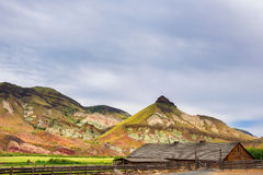 Cant Ranch in John Day Fossil Beds National Park. Kimberly, Oregon, USA - May 31, 2017: James Cant Ranch is an historical part of the National Park Service and stock photo