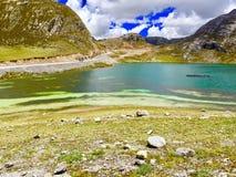 Canta - le Pérou Route de lagune Images stock