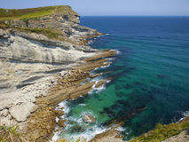 Cantabria, Bay of Santander, cape Cabo Mayor Royalty Free Stock Images