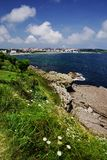 Cantabrian coast in Santander, the Bay of Biscay, Atlantic Ocean, Spain. Cantabria is a beatiful region on the Bay of Biscay in northern Spain with two hundred stock photography