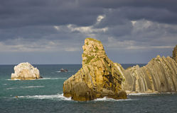 Cantabria coastline Royalty Free Stock Photos