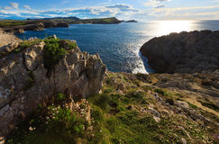 Cantabria coastline landscape. Stock Photos