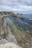 Cantabria, Costa Quebrada, amazing rock formations Royalty Free Stock Images