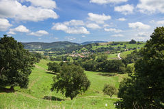 Cantabria valley panoramic Royalty Free Stock Image