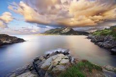 Cantabrian coast in Sonabia Stock Photo
