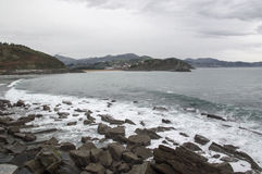 Cantabrian morze blisko Zumaia Obraz Stock