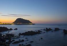 Cantabrian Sea island of San Anton, village of Getaria. royalty free stock photos