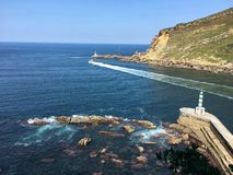cantabric hav fotografering för bildbyråer