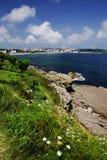 Cantabrische kust in Santander, de Golf van Biskaje, de Atlantische Oceaan, Spanje stock fotografie
