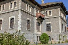 Cantacuzino城堡看法  免版税图库摄影
