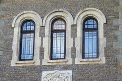 Cantacuzino城堡看法  库存照片