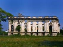 Cantacuzino宫殿,亦称`的废墟一点Trianon `在Floresti,普拉霍瓦县,罗马尼亚 图库摄影