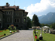 Cantacuzino Castle. Old romanian architecture Royalty Free Stock Image