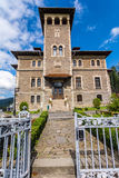 Cantacuzino Castle, Bucegi, Romania stock photo