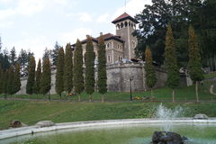 Cantacuzino Castle from Busteni Stock Images