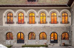 Cantacuzino Castle, Busteni, Romania - Details royalty free stock images