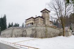 Cantacuzino castle in winter Royalty Free Stock Image