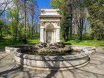 Cantacuzino Fountain in Bucharest. The Cantacuzino fountain in Carol Park, Bucharest, was built in 1870 at the expense of former Bucharest`s mayor, George Royalty Free Stock Photos