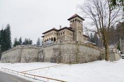 Cantacuzino kasztel w zimie Obraz Royalty Free