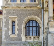 Cantacuzino Palace facade with beautiful arched windows Stock Image