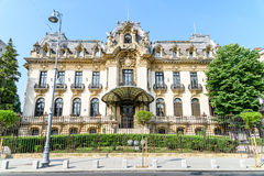 Cantacuzino Palace (George Enescu Museum) In Bucharest Stock Photos