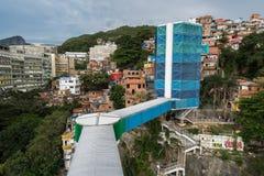 Cantagalo slamsy w Rio De Janeiro obraz stock
