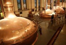 Cantainers della fabbrica di birra. Fotografie Stock
