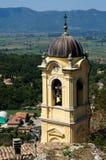 Cantalice Glockenturmdella Chiesa di San Felice DA, Italien Stockfotografie