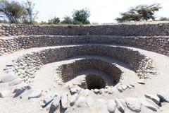 Cantalloc akvedukt, Peru Arkivfoto