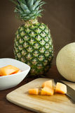 Cantalope and Pineapple Royalty Free Stock Image