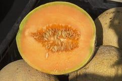 Cantalope połówka Zdjęcie Royalty Free
