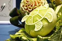Cantaloup carving 10 Royalty Free Stock Photo