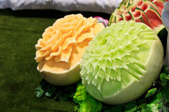 Cantaloup carving 2 Stock Photography