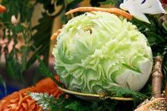 Cantaloup carving 5 Royalty Free Stock Photos