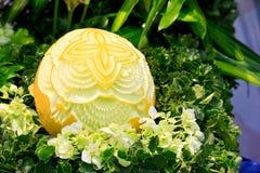 Cantaloup carving 8 Royalty Free Stock Photography