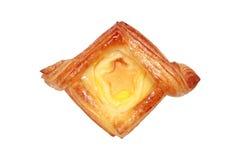 cantaloup fruit danish bread isolated on white Stock Image