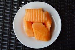 Cantaloup slice Stock Photography