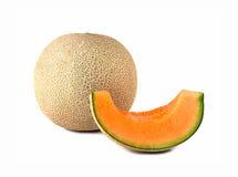 Cantaloup sur le fond blanc Images stock