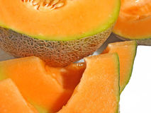Cantaloupe. Sliced cantaloupe Royalty Free Stock Image
