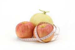 Cantaloupe and apple Royalty Free Stock Photo