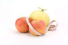 Cantaloupe and apple Royalty Free Stock Photos