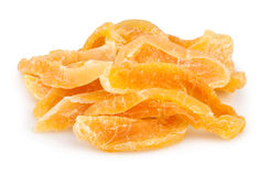 Cantaloupe candied heap. On white Royalty Free Stock Photos